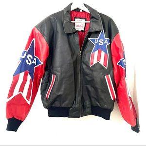 Vintage Michael Hoban USA Leather Jacket L
